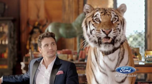 2014 Ford Pre-KIck Super Bowl Ad stars James Franco Saves Ford money